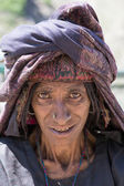 Portrait Indian woman. Srinagar, Kashmir, India. Close up — Stock Photo
