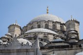 View roof the Suleymaniye Mosque in Istanbul, Turkey — Photo