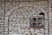 Detail wall of a old home in Srinagar, India — Stock Photo
