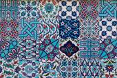 Set of traditional turkish ceramic tiles — Stock Photo
