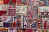 Asian patchwork carpet in Istanbul, Turkey — Stock Photo