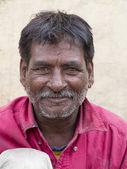 Portrait old man on the street in Leh, Ladakh. India — Stock Photo