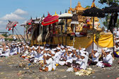Indonesian people celebrate Balinese New Year and the arrival of spring — Stock Photo