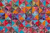 Colorful crazy quilt for sale, Island Bali, Indonesia — Stock Photo