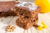 Brownie cake — Stock Photo