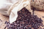 Black wild rice — Stock Photo