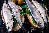 Tapas with fish — Stock Photo