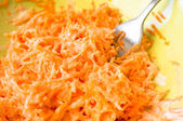 Carrot salad with sour cream — Stock Photo