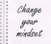 Change your mindset text on notebook  — Stock Photo
