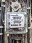 Watt hour Electric meter measurement — Stock Photo