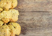 Cookie on wood background — Stock Photo