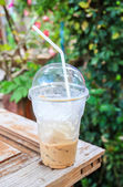 Ice coffee at the outdoor  — Stok fotoğraf