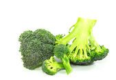 Broccoli cabbage on a white background — Stock Photo