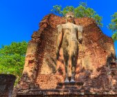 Ancient City Old town and Old Temple Old Buddha — Stock Photo