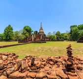 Si Satchanalai Historical Park in old town — Stock Photo