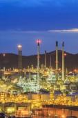 Fabbrica di raffineria di petrolio — Foto Stock