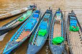 Boats in Inle Lake Shan State — Stock Photo