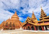 Shwe zi gon pagoda Paya Temple — 图库照片