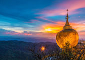 Kyaikhtiyo or Kyaiktiyo pagoda, Golden rock, Myanmar. — Foto Stock