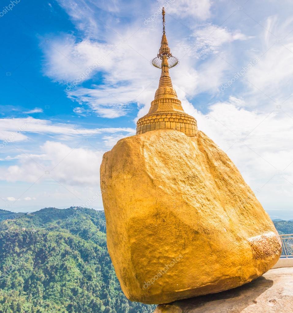 缅甸金岩石宝塔
