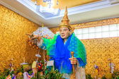 God in Bo Ta Tuang Paya Temple Yangon — Stock Photo