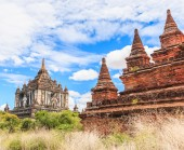 Bagan old ancient temple — Stockfoto