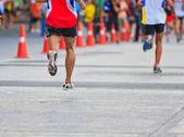Runner running marathon — Stock Photo