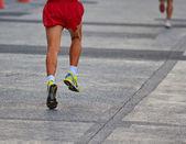 Runner running marathon — Foto Stock