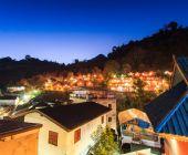 Gece şehir Doi Ang Khang Chiang mai — Stok fotoğraf