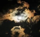 Moon in the night sky — Stock Photo