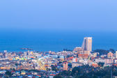 High angle view of Hua Hin — Stock fotografie
