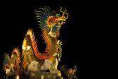 Estatua de dragón dragón en la noche — Foto de Stock