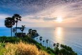 Sunset view Promthep Cape — Foto Stock