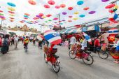 31th anniversary Bosang umbrella festival — Foto de Stock