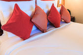 Pillows on bed — Foto Stock