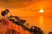 Sunset view Promthep Cape — Stock Photo