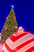 クリスマス ツリーの照明 — ストック写真