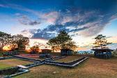 Sonnenuntergang Gräben und Bunker — Stockfoto