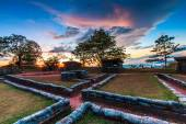 Sunset Trenches and bunkers — Foto Stock