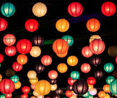 Chinese lanterns season — Stock Photo