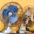 Dirty old vintage metal fan — Stock Photo #56026855