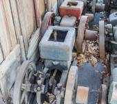 Old engine Traction machine — Stock Photo