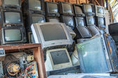 Old television repair shop — Stock Photo