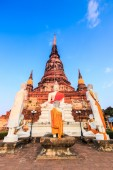 Old Buddha in old town — Stockfoto