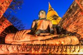 Old Buddha in old town — Stock Photo