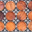 Wooden coasters for glass — Stock Photo #56094325