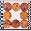 Wooden coasters for glass — Stock Photo #56095505