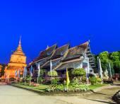 Old wooden Temple of Wat Lok Molee — Stock Photo