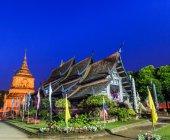 Old wooden Temple of Wat Lok Molee — Foto Stock