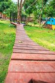 Wooden boardwalk — Stock Photo